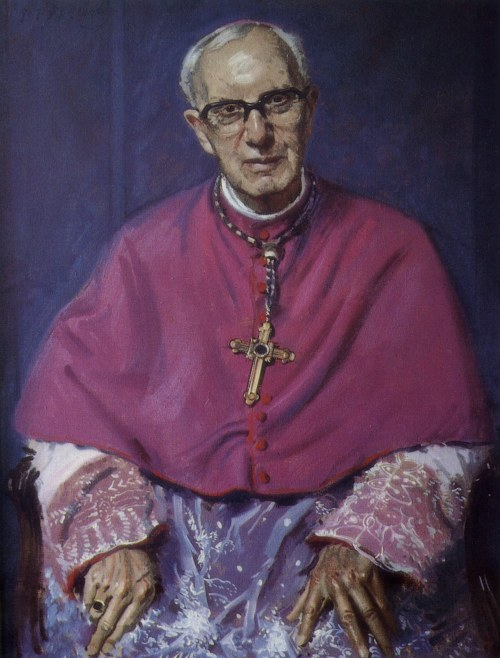 Portrait of Bishop William Gordon Wheeler by Andrew Festing, 1989